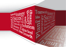 Business words on the wall Stock Image
