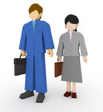 Business work. Businessman working toward. Businessmen towards the two partners. Suits men and women Stock Photography
