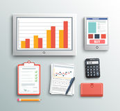 Business work elements Stock Photos