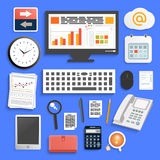 Business work elements Stock Photography