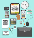 Business work elements Stock Photo