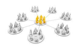 Business work groups. A network of grouped business pictograms Stock Image