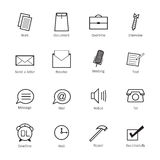 Business and work Icons Royalty Free Stock Photos