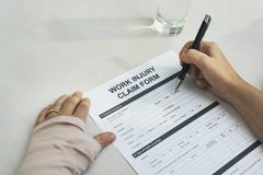 Business Work Injury Claim Form Concept Royalty Free Stock Photography