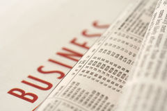 Business work. Business section of a generic newspaper Royalty Free Stock Image