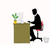 Business worker. Business man working in his office Stock Images