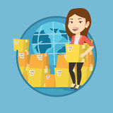 Business worker of international delivery service. Stock Photo