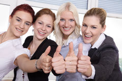 Business worker with thumps up Stock Image