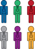 Business Workers Colors Blank Stock Image