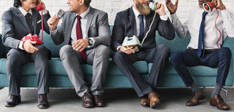 Business Workers Corporate Sitting Concept. Business People on Break Time stock image