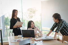 Business workers group meeting in office Royalty Free Stock Photos