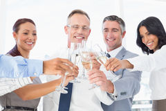 Business workers having a party Stock Image
