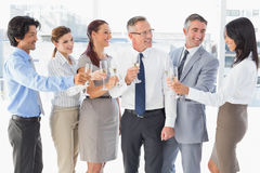 Business workers having a party Royalty Free Stock Photography
