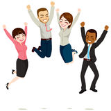 Business Workers Jumping Royalty Free Stock Photography