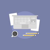 Business workflow flat icon illustration Royalty Free Stock Photos