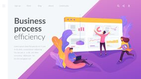 Workflow landing page template. stock illustration