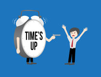 Business workforce Concept. time's up clock Stock Image