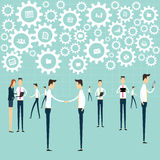 Business working communication connection process. Business people communication network concept Royalty Free Stock Image