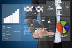 Business working flow chart Royalty Free Stock Photo