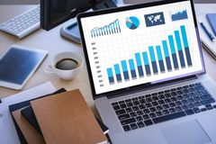 Business working   graph financial  Data Analytics Statistics In Stock Photography