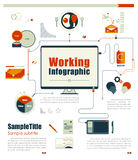 Business working infographics element. vector illustration Stock Image
