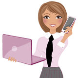Business working woman Royalty Free Stock Photography