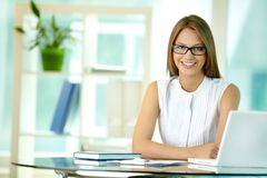 At business workplace Royalty Free Stock Photo