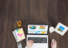 Business workplace with business stuff Stock Image