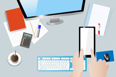Business workplace concept Stock Images