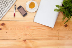 Business workplace with office items Royalty Free Stock Photos