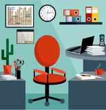 Business workplace with office things Stock Image