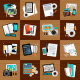 Business workplace with office things. Stock Photography