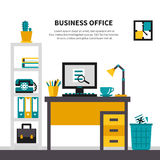 Business Workspace In Office Interior Royalty Free Stock Image