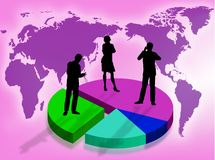 Business in the world stock photography