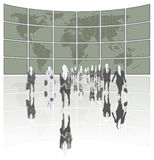 Business World. Business people leading the world Royalty Free Stock Photo