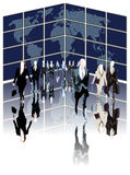 Business World. Business people leading the world Royalty Free Stock Image