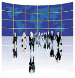 Business World. Business people leading the world Stock Image