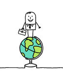 Business & world. Vector hand-drawn characters on line Royalty Free Stock Photos