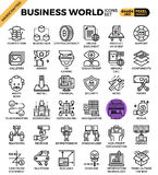 Business World Icons. Business World concept detailed line icons set in modern line icon style concept for ui, ux, web, app design Stock Photos