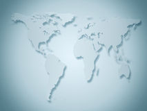 Business world map. In gray and blue tones royalty free illustration