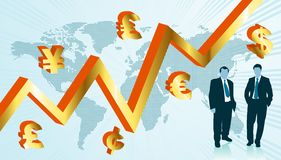 Business world map Stock Image