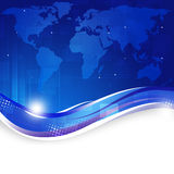 Business World Map Blue Background Stock Photo