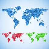 Business world map set. Royalty Free Stock Image