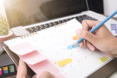 Business writing for working and schedule this month. Planner Royalty Free Stock Images