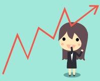 business wykres śliczny Obrazy Stock