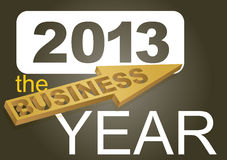 Business year. 2013 the business year - card concept Royalty Free Stock Photography