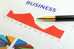 Business yearly graph Royalty Free Stock Image