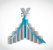 Business yen graph illustration design Stock Photo