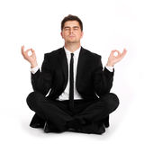 Business yoga Royalty Free Stock Image