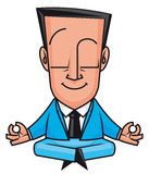 Business yoga. Vector illustration Businessman doing yoga Royalty Free Stock Photography